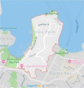 darling point map
